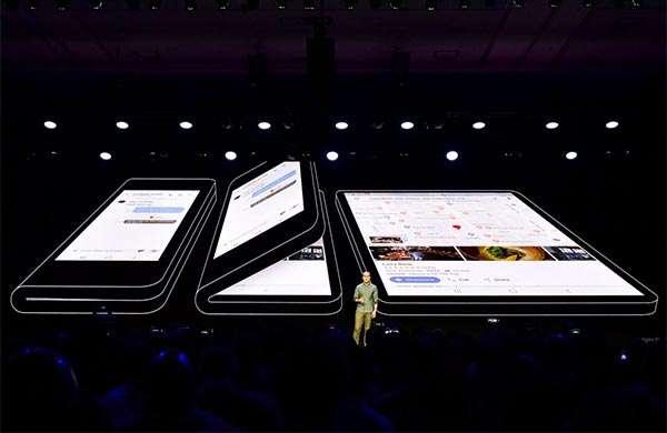Lo smartphone pieghevole di Samsung