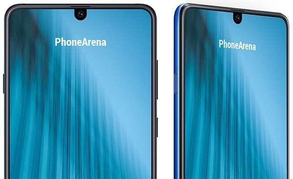 Samsung Galaxy M2 e il suo notch in un render