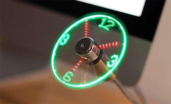 Trixes, ventilatore USB con orologio