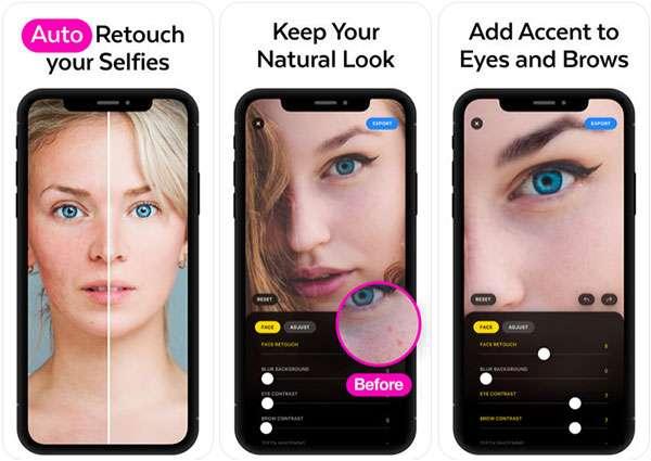 Lensa, screenshot dell'app iOS