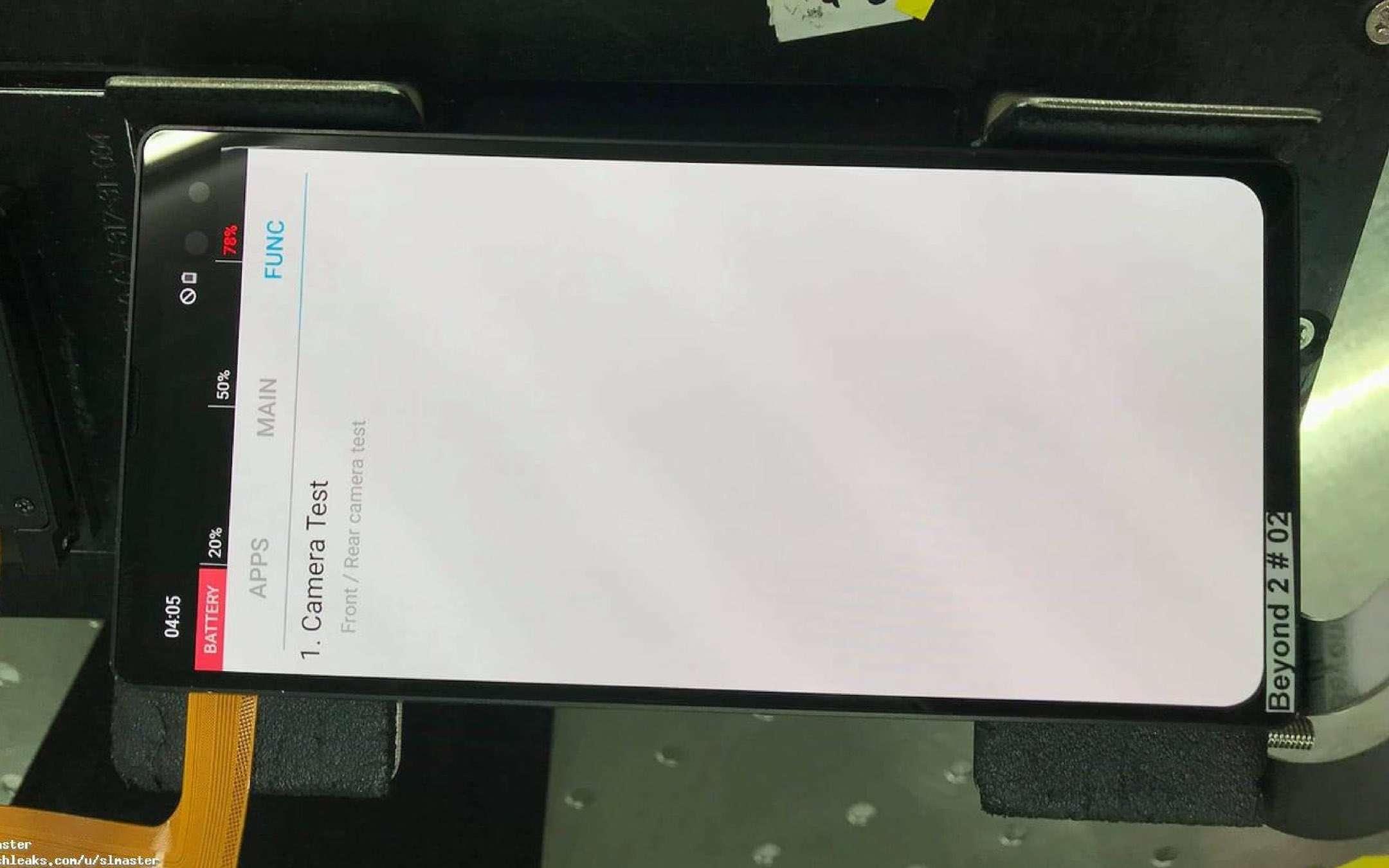 Samsung Galaxy S10+: l'immagine del prototipo
