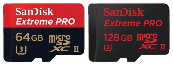 Sandisk Extreme Pro da 64GB e 128GB