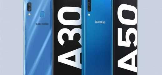 Samsung Galaxy A50 ed A30 ufficiali: i dettagli