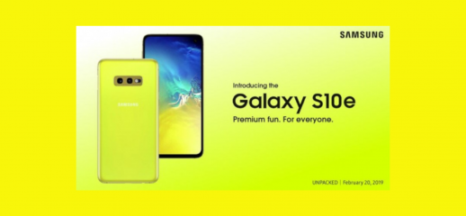 Samsung Galaxy S10e: il poster di presentazione