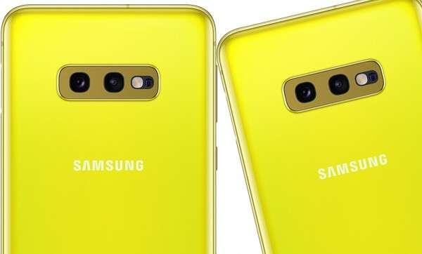 Samsung Galaxy S10e giallo canarino