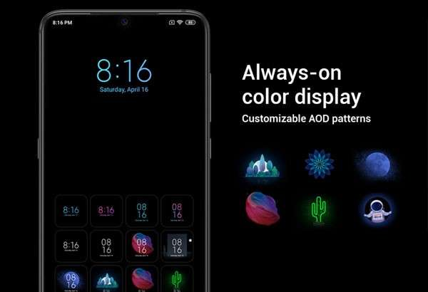Xiaomi Mi 9: la modalità Always-on Display