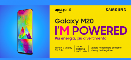 Samsung Galaxy M20 disponibile su Amazon a 229€
