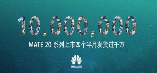 Huawei Mate 20 supera 10 milioni di spedizioni