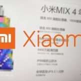 Xiaomi Mi Mix 4: le specifiche sono esagerate