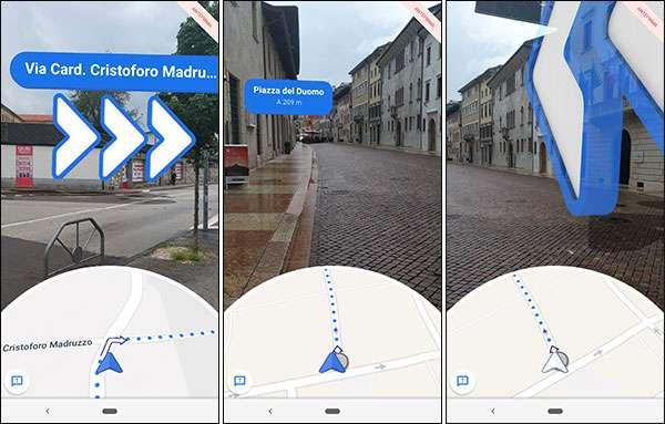 Google Pixel: navigazione stradale a piedi in modalità AR