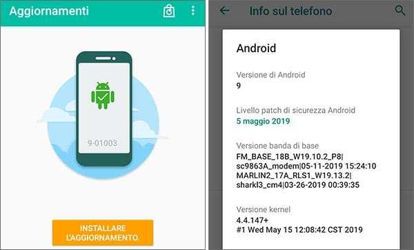 Alcatel 1S: Android e gli aggiornamenti