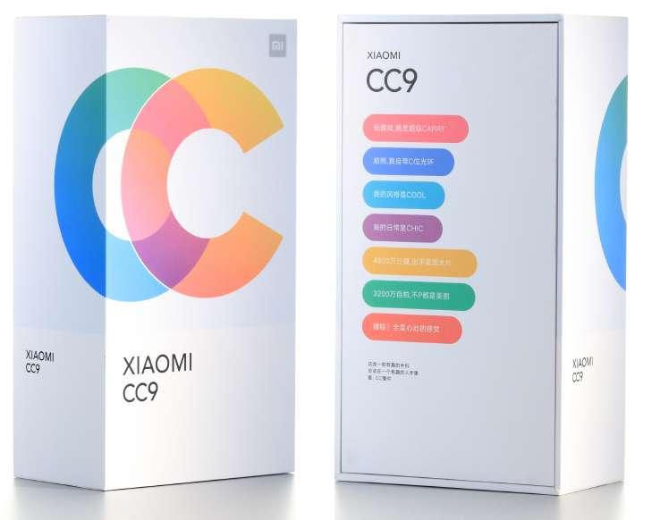 Xiaomi Mi CC 9 Confezione