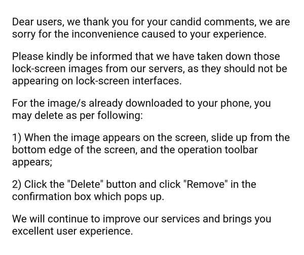 Come rimuovere le pubblicità dal lock screen Huawei