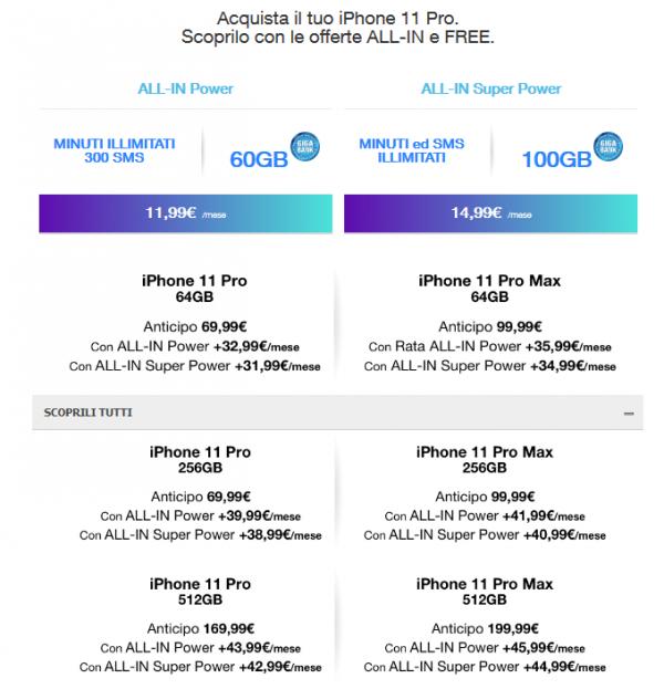 iPhone 11 con TRE a rate e senza anticipo iniziale