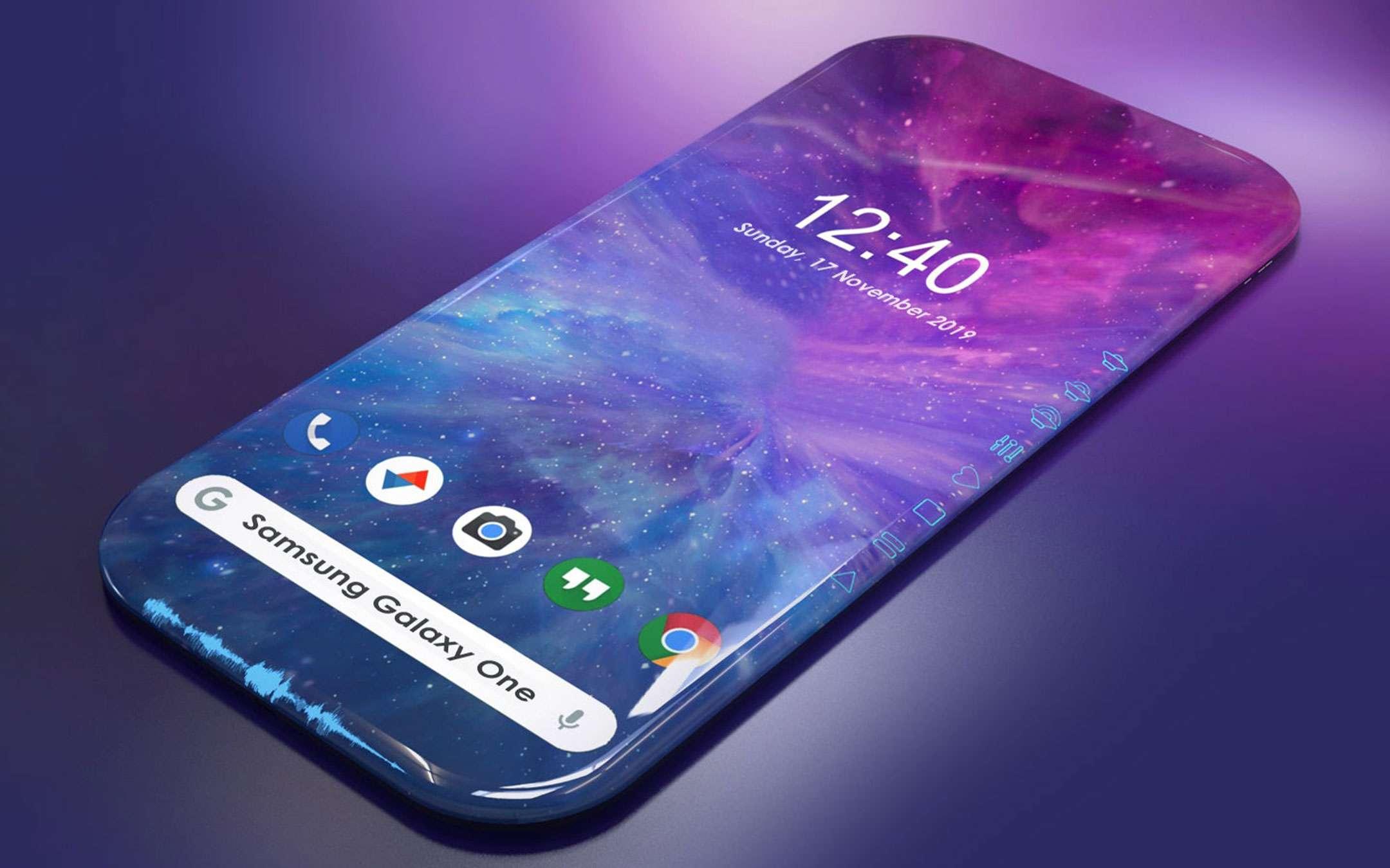 Samsung: un display con quattro bordi arrotondati