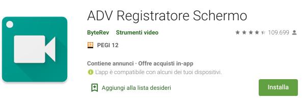 ADV Registratore Schermo