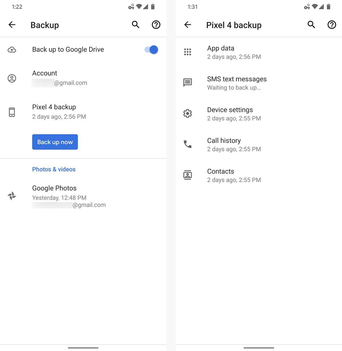 Strumento di backup Android trasferimento media video foto ripristinare i file manager SMS USB