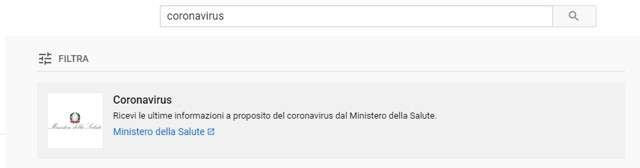 Coronavirus, la ricerca su YouTube