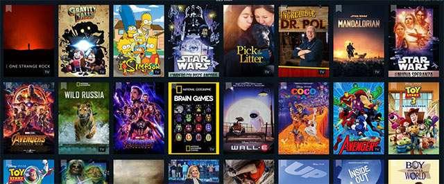Il catalogo di Disney+ su JustWatch