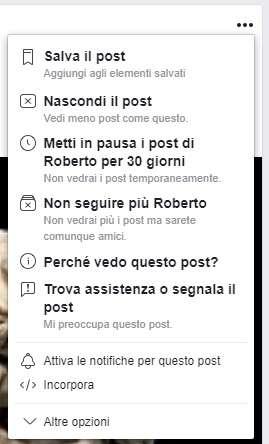 Come silenziare un contatto su Facebook