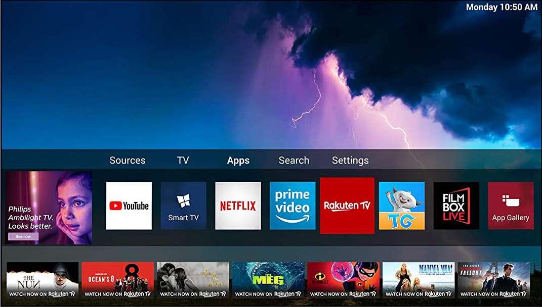 sistema operativo TV oled