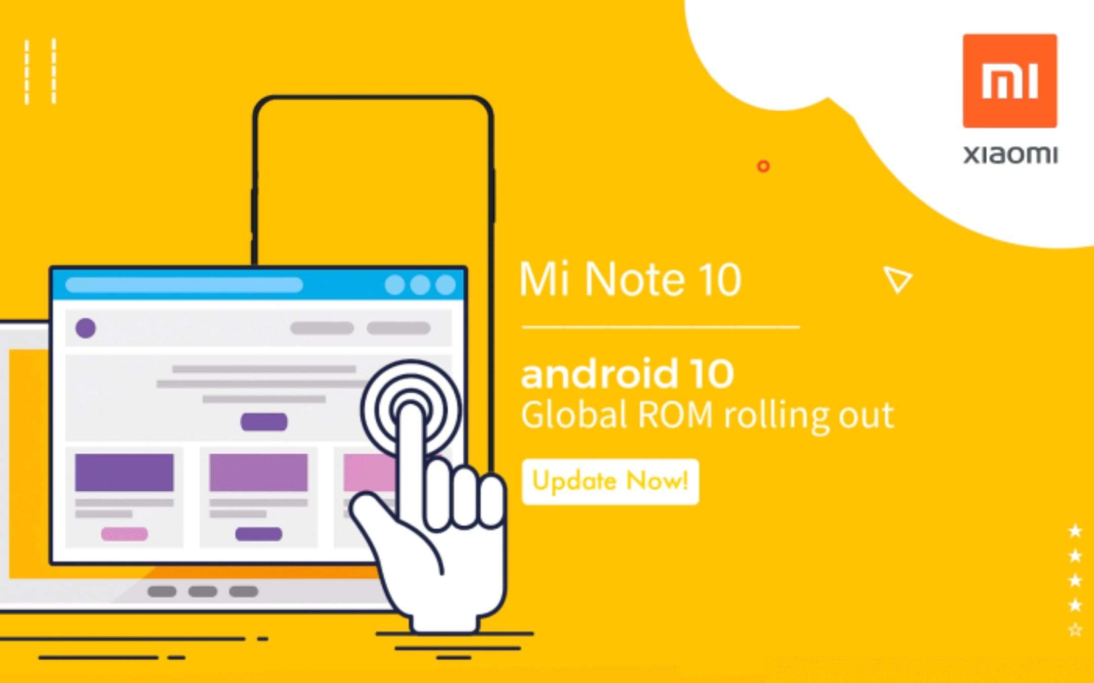 Xiaomi Mi Note 10: Android 10 Global in arrivo