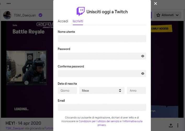 come usare Twitch