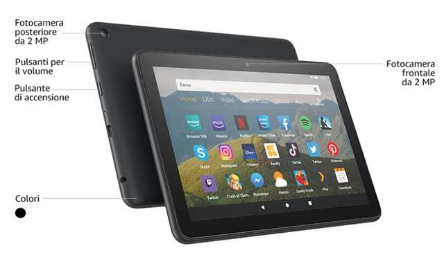 Caratteristiche Amazon Fire HD 8 (2020)