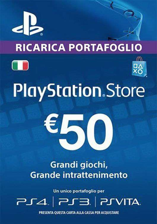 playstation store ricarica 50 euro