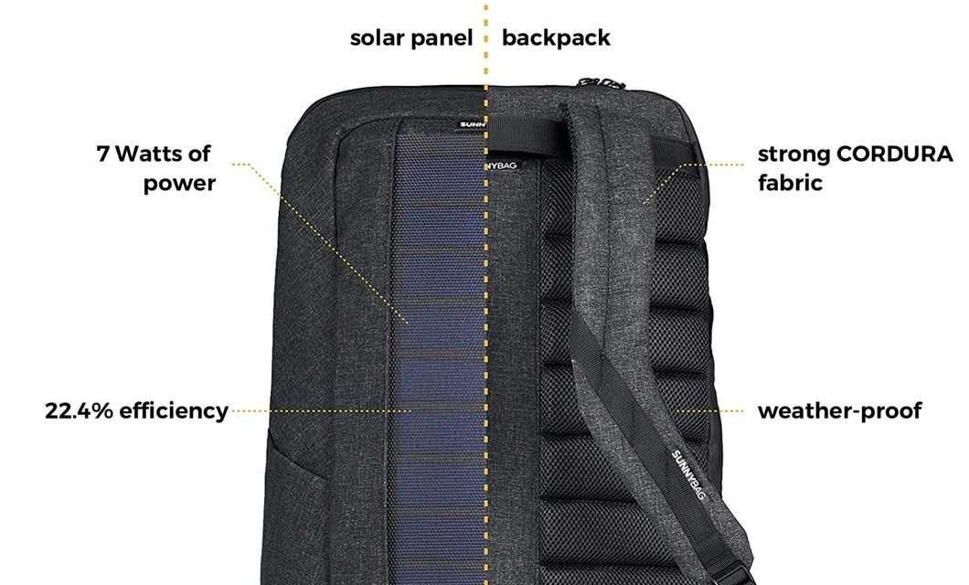 SunnyBag, lo zaino con il pannello solare