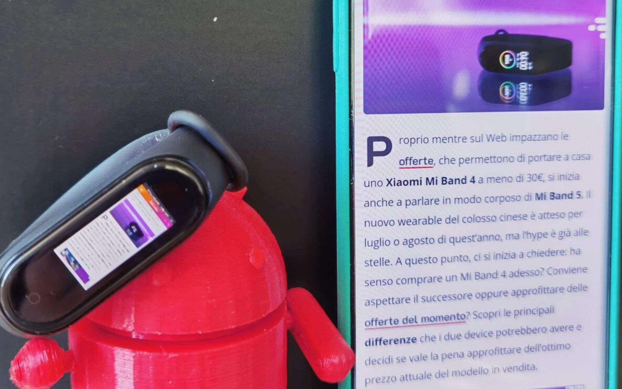 Xiaomi Mi Band 4 a 22€: affari su Amazon