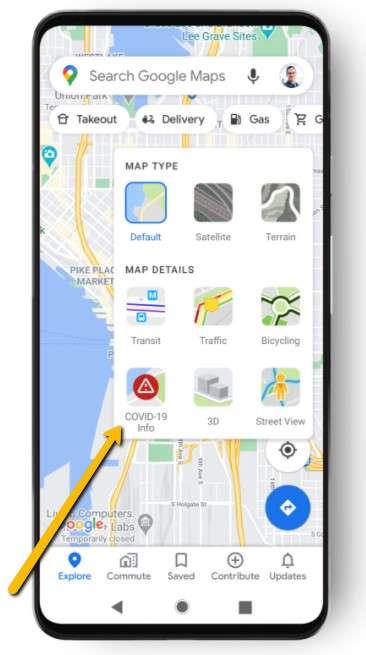 Covid-19 su Google Maps: come attivare la mappa