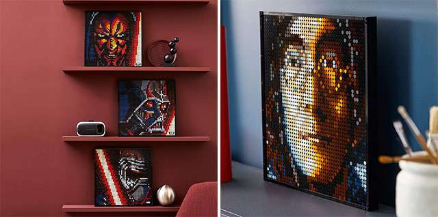I kit LEGO ART di Start Wars e dei Beatles