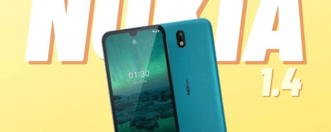 Nokia 1.4: economico, ma con un gran bel carattere