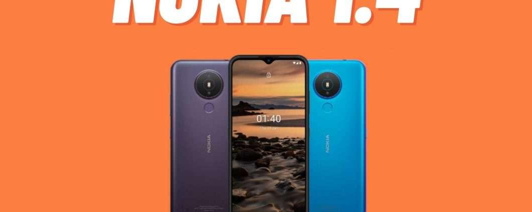 Nokia 1.4: ufficiale l'Android Go SUPER economico