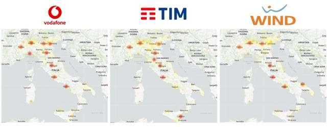 Problemi sulla rete mobile italiana