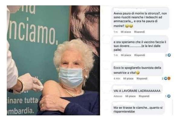 Post contro Liliana Segre