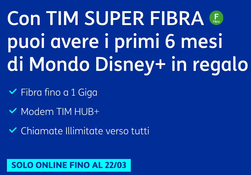 TIM Super Fibra Disney+