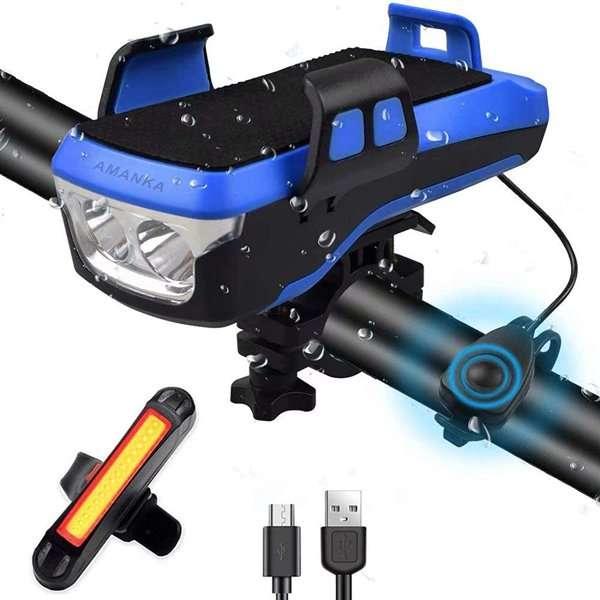 AMANKA Luce LED Bicicletta Ricaricabile USB