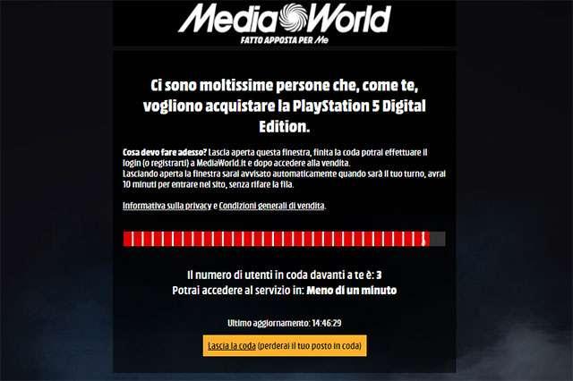 PS5 su MediaWorld