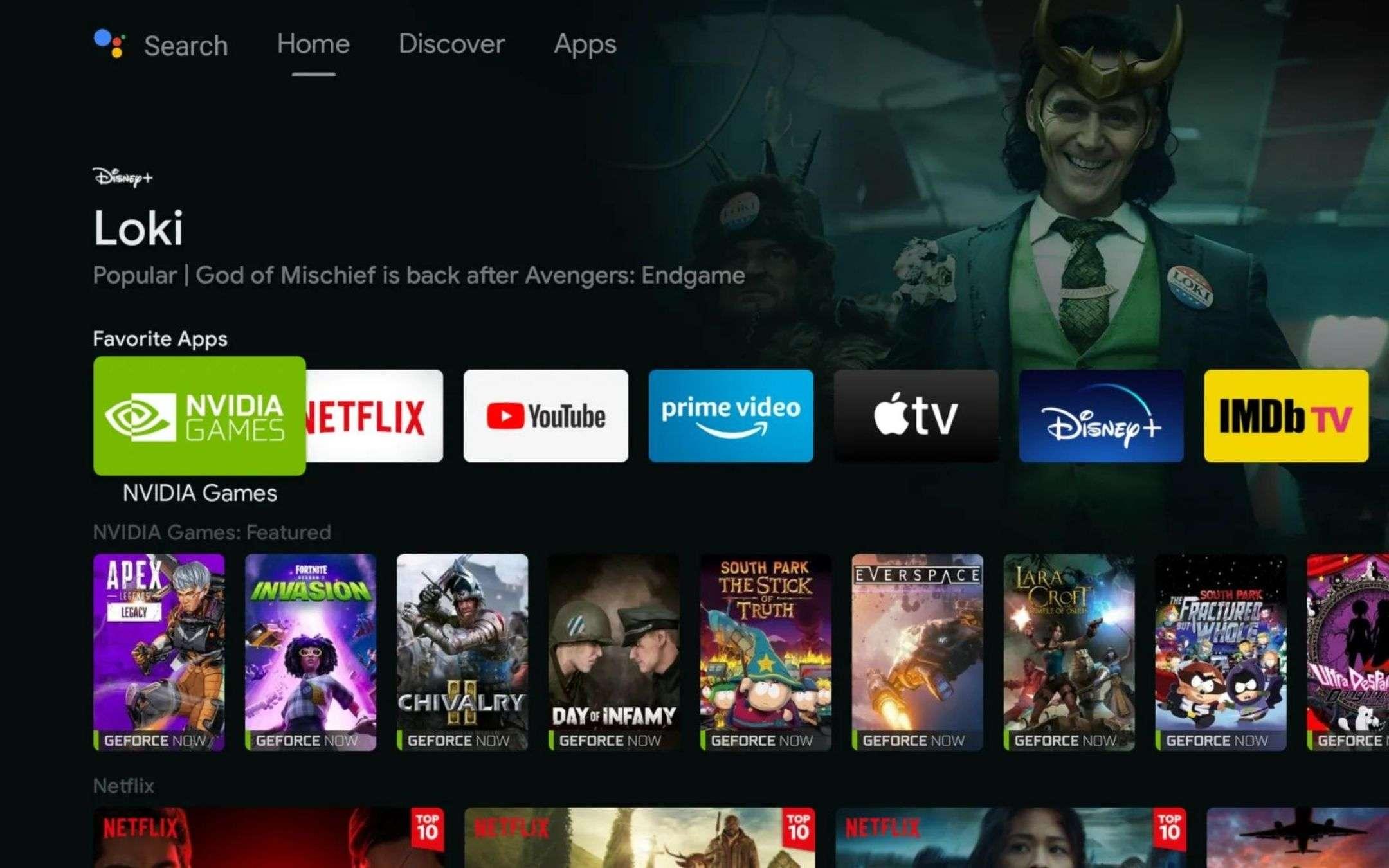 Nvidia Shield UI