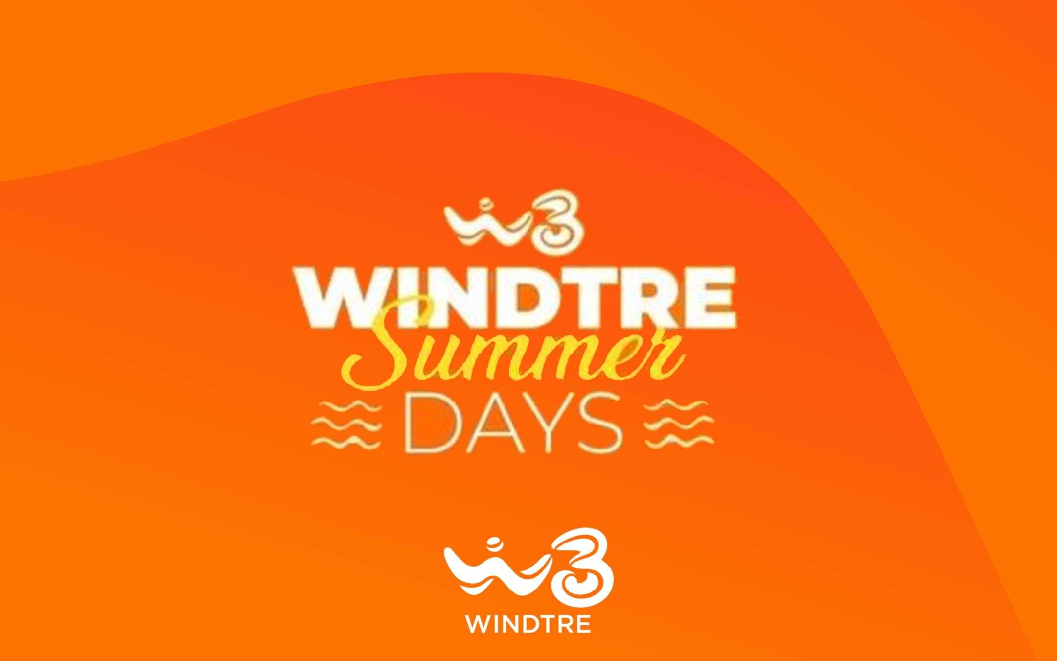WINDTRE Summer Days: sconti anche in Estate!