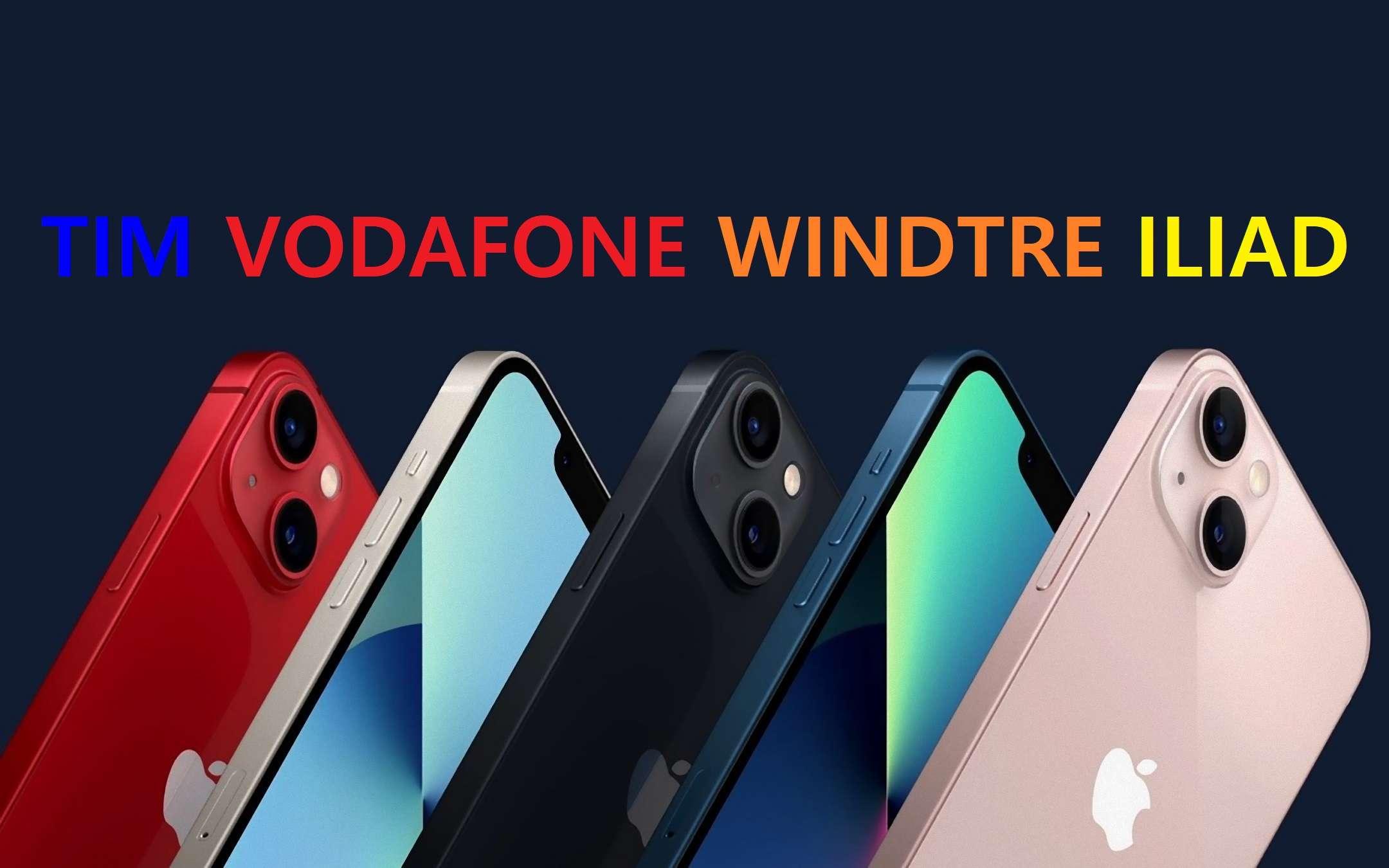 iPhone 13: tutte le offerte d'acquisto di Tim, Vodafone, WindTre e Iliad