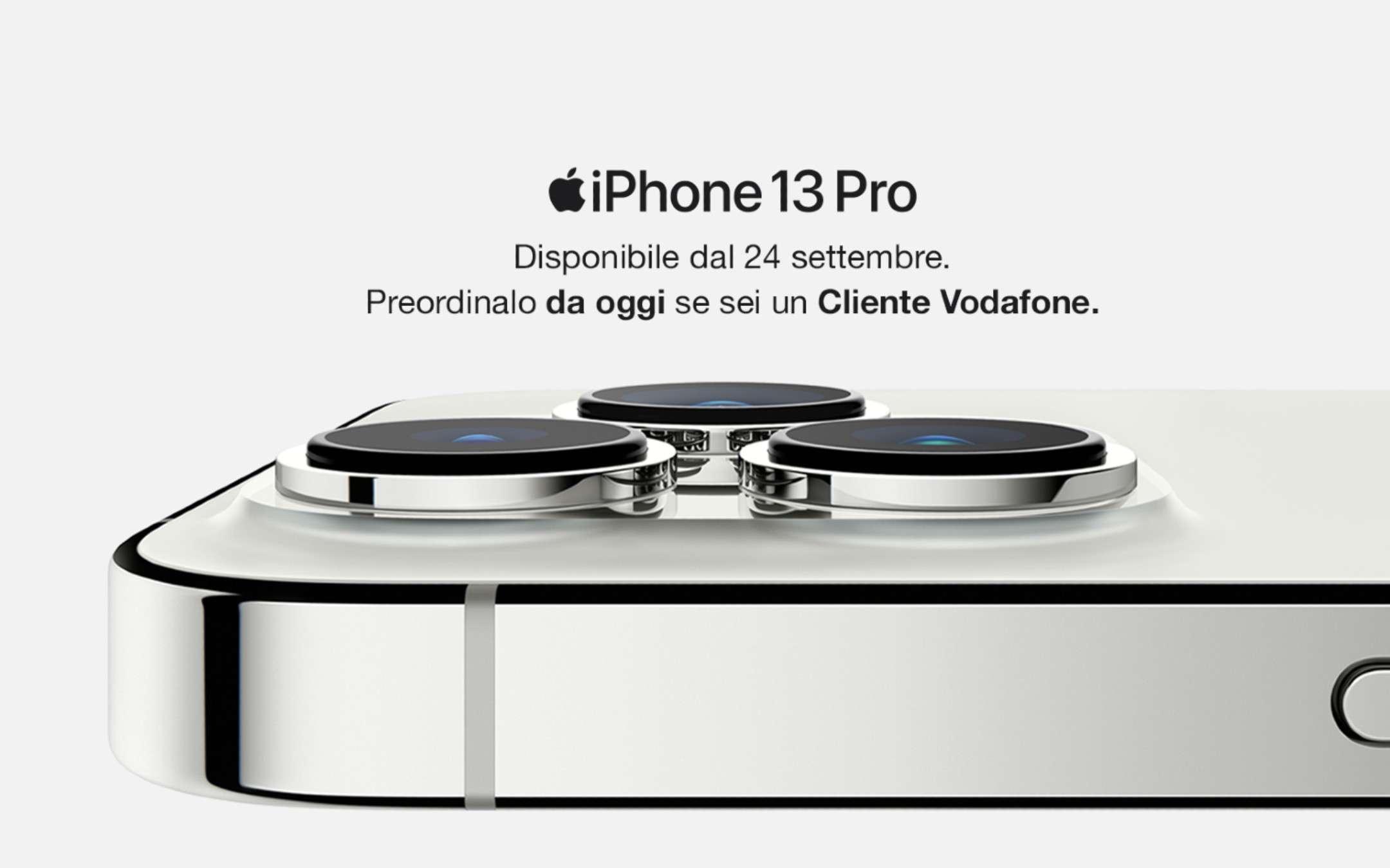 iPhone 13: con Vodafone da 27,99€ per 24 mesi!