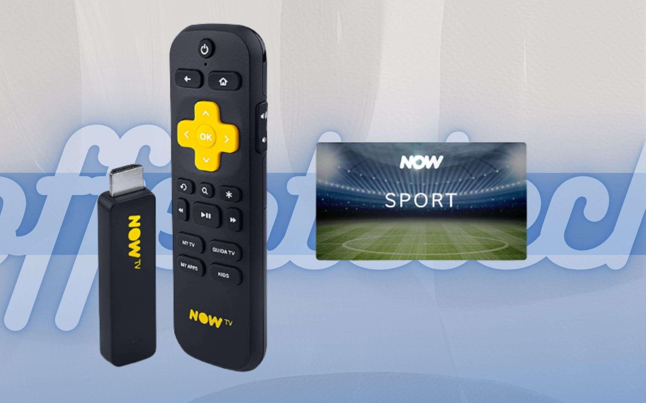 NOW TV a prezzo regalo: stick e due mesi di sport a soli 19,99€