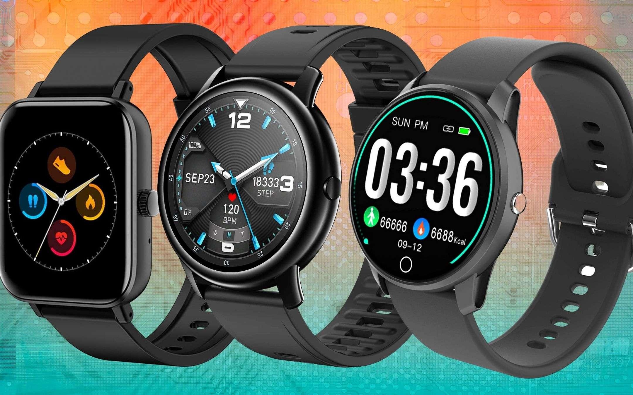 Smartwatch: 5 modelli SPETTACOLARI a meno di 25€ su Amazon