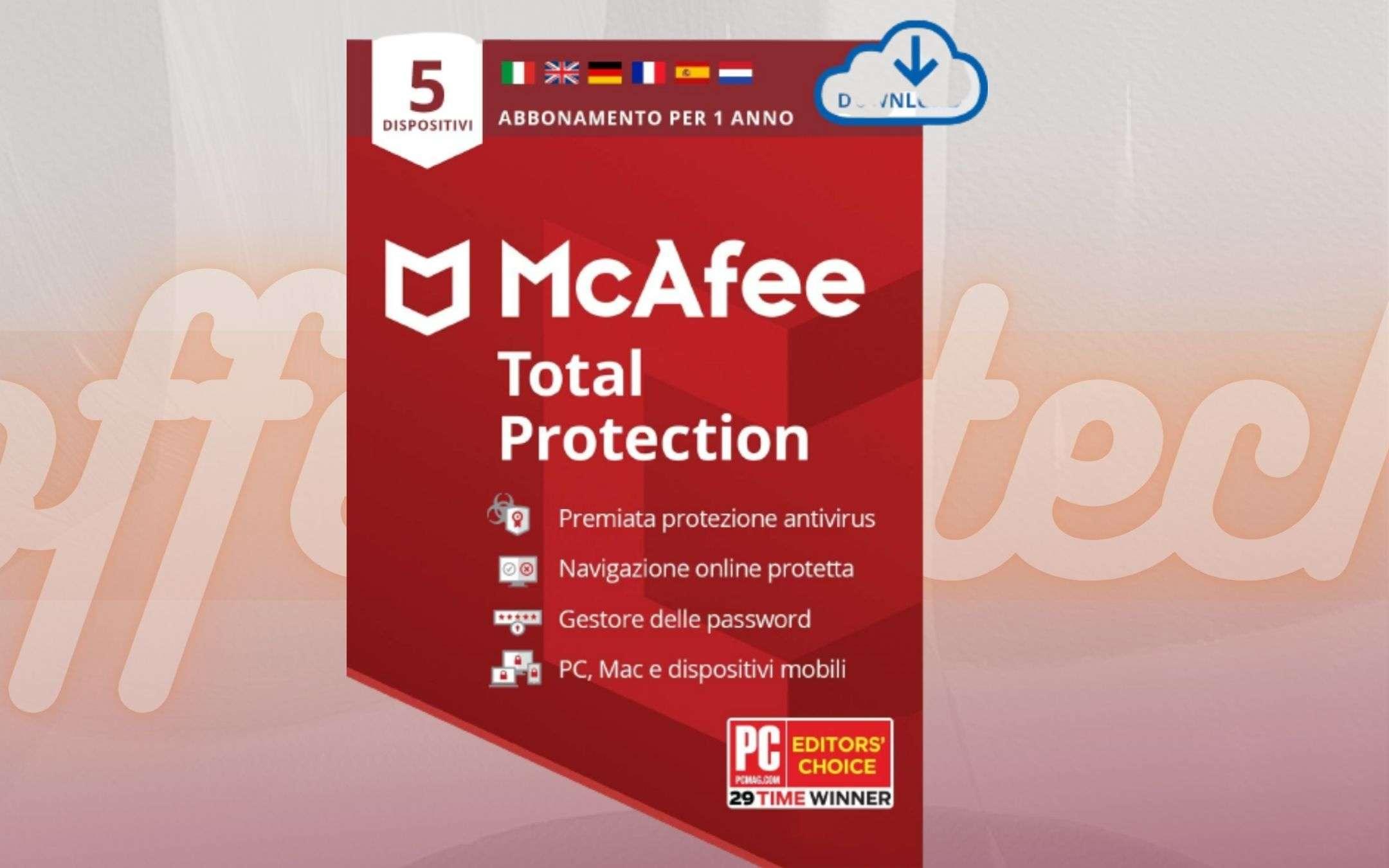 McAfee Total Protection 2021: l'antivirus di cui HAI BISOGNO a 18,99€