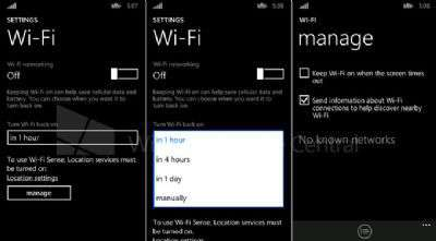 Action Center di WP8.1