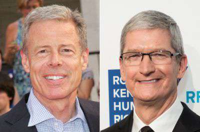 Jeff Bewkes and TIm Cook
