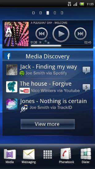 Facebook inside Xperia